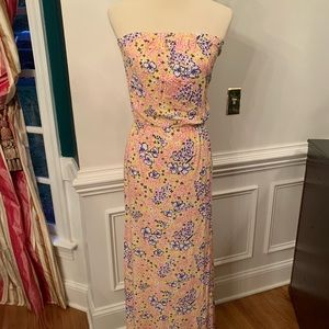 Lilly Pulitzer XS Maxi Dress - Strapless Pull on